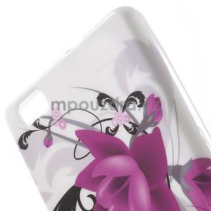 Gelový obal Style na Huawei Ascend P8 Lite - fialové květy - 3