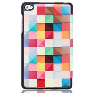 Třípolohové pouzdro na tablet Huawei MediaPad M2 8.0 - barevné kostičky - 3