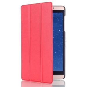 Trifold polohovatelné pouzdro na tablet Huawei MediaPad M2 8.0 - červené - 3