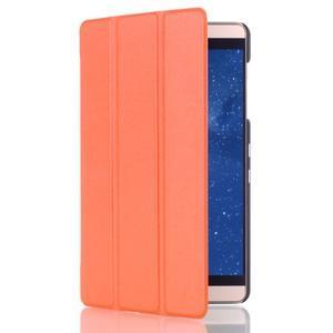 Trifold polohovatelné pouzdro na tablet Huawei MediaPad M2 8.0 - oranžové - 3