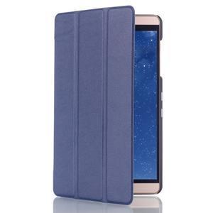 Trifold polohovatelné pouzdro na tablet Huawei MediaPad M2 8.0 - tmavěmodré - 3