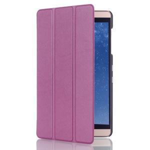 Trifold polohovatelné pouzdro na tablet Huawei MediaPad M2 8.0 - fialové - 3