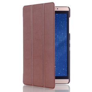 Trifold polohovatelné pouzdro na tablet Huawei MediaPad M2 8.0 - hnědé - 3