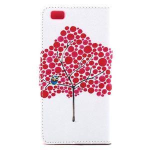 Standy peněženkové pouzdro na Huawei P8 Lite - strom soviček - 3