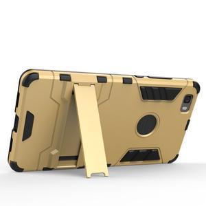 Odolný ochranný kryt na Huawei P8 Lite - šedomodrý - 3