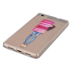 Průhledný gelový obal na Huawei P8 Lite - makrónky - 3