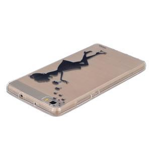 Průhledný gelový obal na Huawei P8 Lite - děvče s pampeliškami - 3