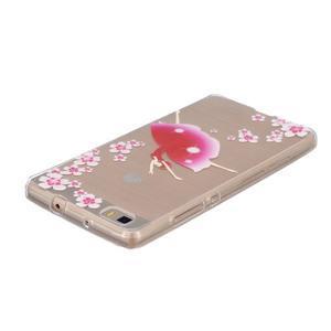 Průhledný gelový obal na Huawei P8 Lite - baletka - 3