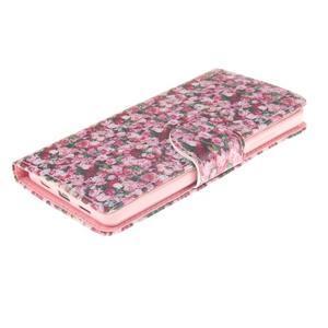 Leathy PU kožené pouzdro na Huawei P8 Lite - růže - 3