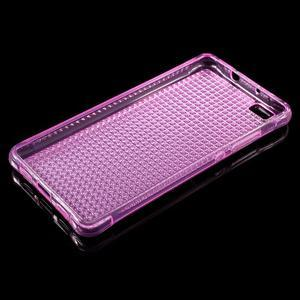 Diamonds gelový obal na Huawei P8 Lite - rose - 3