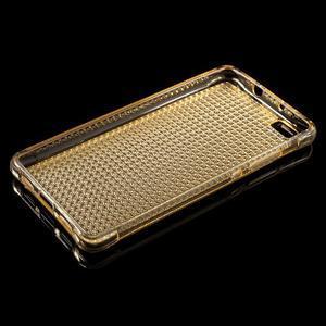 Diamonds gelový obal na Huawei P8 Lite - zlatý - 3
