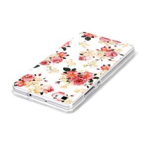 Softy gelový obal na mobil Huawei P8 Lite - květiny - 3