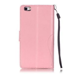 Magicfly PU kožené pouzdro na Huawei P8 Lite - růžové - 3