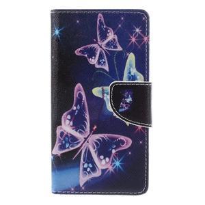 Richi PU kožené pouzdro na Huawei P9 Lite - kouzelní motýlci - 3