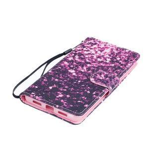 Peněženkové PU kožené pouzdro na Huawei P9 Lite - purple - 3