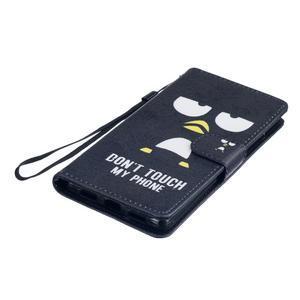 Peněženkové PU kožené pouzdro na Huawei P9 Lite - nešahej na můj telefon - 3
