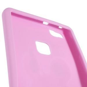 Silikonový obal na mobil Huawei P9 Lite - růžový - 3