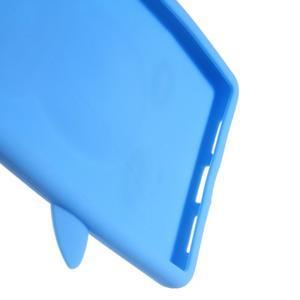 Silikonový obal na mobil Huawei P9 Lite - modrý - 3