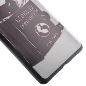 Softy gelový obal na mobil Huawei P9 Lite - kočička - 3