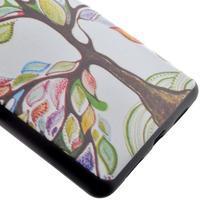 Softy gelový obal na mobil Huawei P9 Lite - barevný strom - 3/5