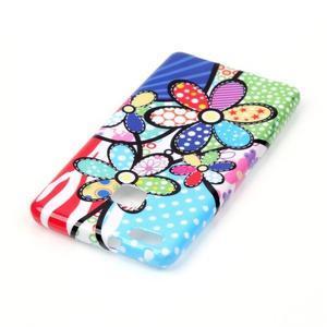 Emotive gelový obal na mobil Huawei P9 Lite - barevné květiny - 3