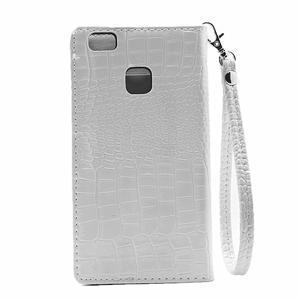 Croco peněženkové pouzdro na mobil Huawei P9 Lite - bílé - 3