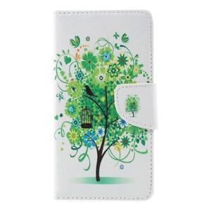 Richi PU kožené pouzdro na Huawei P9 Lite - zelený strom - 3