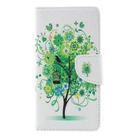 Richi PU kožené pouzdro na Huawei P9 Lite - zelený strom - 3/7