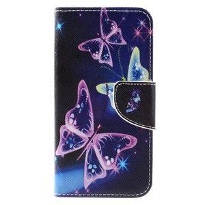 Emotive PU kožené pouzdro na Huawei Y5 - kouzelní motýlci - 3