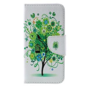 Emotive PU kožené pouzdro na Huawei Y5 - zelený strom - 3