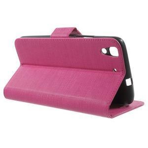 Clothy PU kožené pouzdro na Huawei Y6 - rose - 3