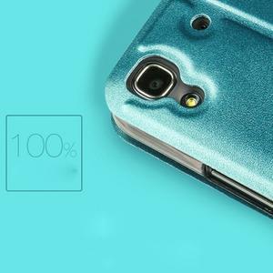 Vintage PU kožené pouzdro na mobil Huawei Y6 - modré - 3