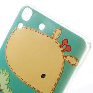 Softy gelový obal na mobil Huawei Y6 - žirafa - 3