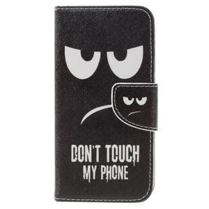 Emotive peněženkové pouzdro na mobil Huawei Y6 Pro - nešahat - 3