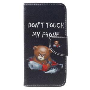 Emotive peněženkové pouzdro na mobil Huawei Y6 Pro - nedotýkat se - 3