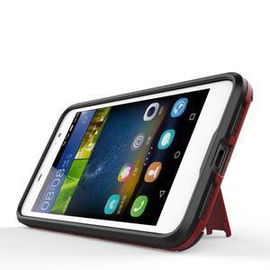 Outdoor odolný obal na mobil Huawei Y6 Pro - červený - 3