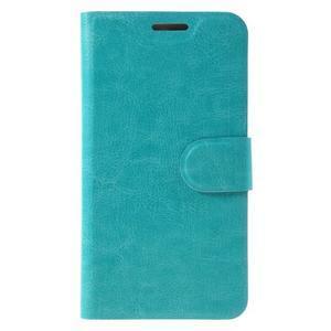 Horse PU kožené peněžekové pouzdro na Huawei Y6 Pro - modré - 3