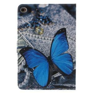 Stylové pouzdro na iPad mini 4 - modrý motýl - 3