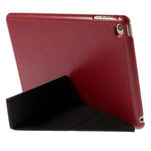 Origami polhovatelné pouzdro na iPad mini 4 - červené - 3