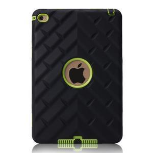 Vysoce odolný silikonový obal na tablet iPad mini 4 - černý/zelený - 3