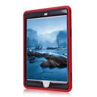Vysoce odolný silikonový obal na tablet iPad mini 4 - černý/červený - 3/4