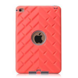 Vysoce odolný silikonový obal na tablet iPad mini 4 - oranžový/šedý - 3