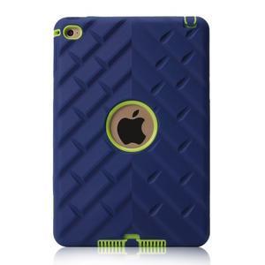 Vysoce odolný silikonový obal na tablet iPad mini 4 - tmavěmodrý/zelený - 3
