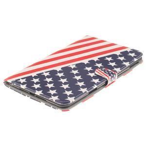 Standy pouzdro na tablet iPad mini 4 - US vlajka - 3