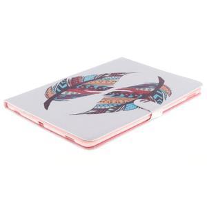 Knížkové pouzdro na tablet iPad Pro 9.7 - barevní peříčka - 3