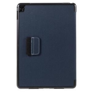Clothy PU textilní pouzdro na iPad Pro 9.7 - tmavěmodré - 3