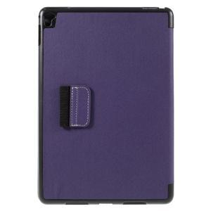 Clothy PU kožené pouzdro na iPad Pro 9.7 - fialové - 3