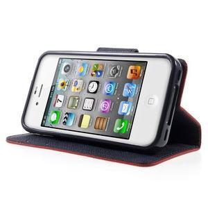 Fancys PU kožené pouzdro na iPhone 4 - červené - 3