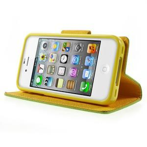 Fancys PU kožené pouzdro na iPhone 4 - zelené - 3