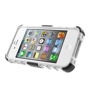 Outdoor odolný obal na mobil iPhone 4 - bílý - 3